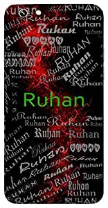 Ruhan (Spiritual) Name & Sign Printed All over customize & Personalized!! Protective back cover for your Smart Phone : Samsung Galaxy Note-4