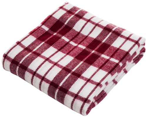 Lavish Home Throw Blanket, Cashmere-Like, Red/White front-911703