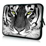 New Black and White Tiger Neoprene Case Cover Pouch Sleeve FOR TESCO HUDL