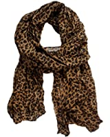 Womdee Women Fashion Long Soft Animal Leopard Print Chiffon Long Scarf With Womdee Accessory