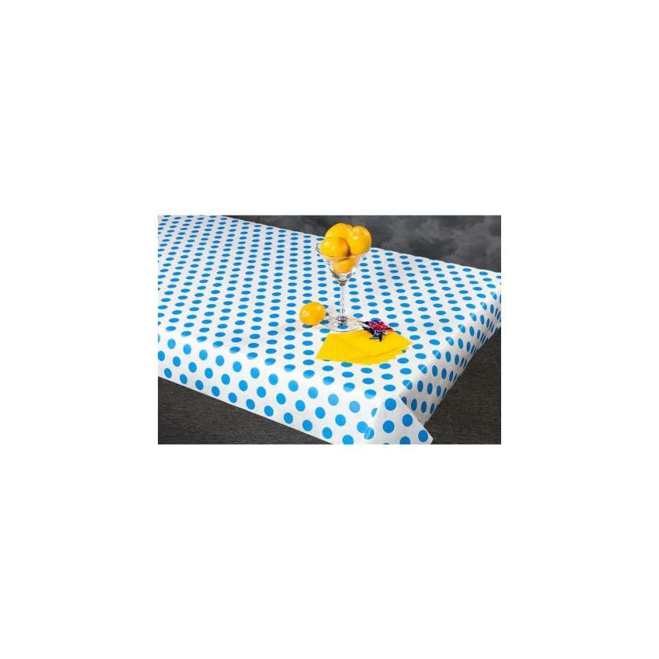 100 foot Blue Polka Dot Paper Table Cover   702363