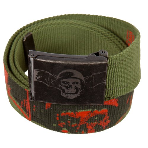 Avenged Sevenfold - Mens Avenged Sevenfold - Soldier Bat Canvas Belt One Size Green
