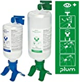 Plum 248808403 Duo Bottle Eye Wash Station With 500 ml pH Neutralizing And 1000 ml Sterile Saline