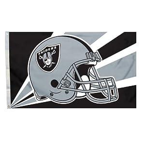 NFL Oakland Raiders 3-by-5 Foot Helmet Flag by Fremont Die