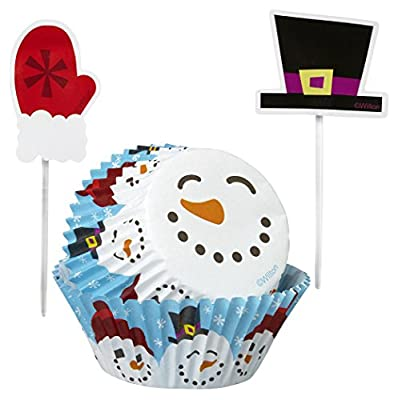 Wilton 415-2663 Christmas Merry and Sweet Cupcake Combo Baking Cups and Picks