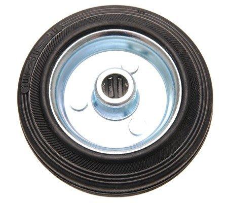 Vollgummi-Rad 100 mm, Stahlfelge