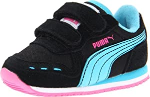 PUMA Cabana Racer Mesh V Kids Sneaker (Toddler/Little Kid),Black/Blue Atoll,12 M US Little Kid