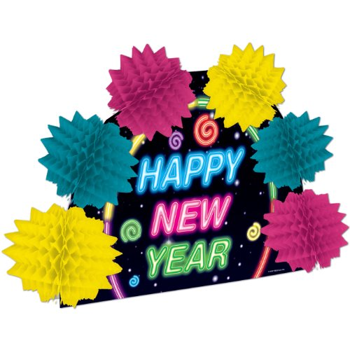 Happy New Year Pop-Over Centerpiece Party Accessory (1 count) (1/Pkg) - 1
