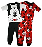 Mickey Mouse Toddler Boys 4 Pc Cotton Pajama Set