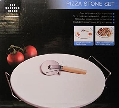 Sharper Image, Pizza Stone Set, 13 Inch Stone / Cutter & Stand