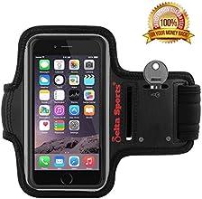 "PREMIUM QUALITY Sports Armband for Apple iPhone 6 (4.7"") + Key Holder, Sports Armband for iPhone 6 (4.7""), Armband for iPhone 6 (4.7""), Running Armband for iPhone 6 (4.7""), iPhone 6 (4.7"") Armband for Men & Women, Black, 100% MONEY BACK GUARANTEE"