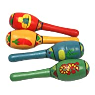 Mini Wooden Fiesta Maracas Assorted c…