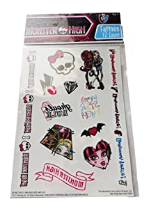 Monster High Temporary Tattoos