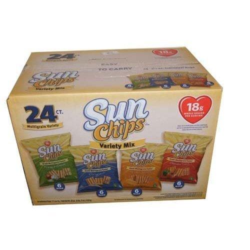 Frito Lay Sun Chips Multigrain Variety box - 24 Bags