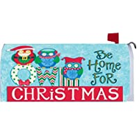 Owl Be Home For Christmas 2140MM Magnetic Mailbox Cover