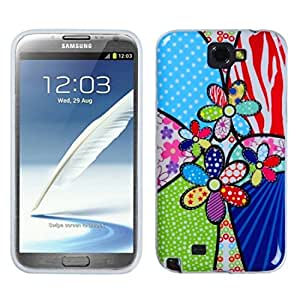 Asmyna SAMGNIICASKCAIM1049NP Premium Slim and Durable Protective Cover for Samsung Galaxy Note 2 - 1 Pack - Retail Packaging - Patchwork Flowers
