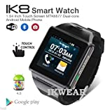 NEW! IKWEAR IK8 Android Smart Watch dual core,Playstore Apps,Bluetooth GPS Wifi Skype