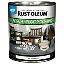 Rust-Oleum 244859 Porch Floor Paint, Pure White Satin, 1-Quart