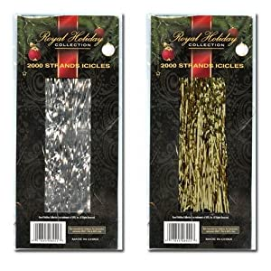 Christmas Icicles 2000 Strands In Box (Silver)