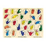 Melissa & Doug Sign Language Alphabet Peg Puzzle
