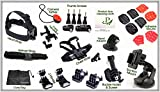 Product Ace (TM) All You Need For Your Sports Action Phones & GoPro Camera, Specialty Accessory Kits. (Ultimate 27pc Totally Dope Set For Gopro, & Bonus Product Ace Microfiber Silky Lingerie Cleaning Cloth)