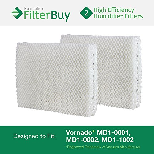Vornado MD1-0001, MD1-0002, MD1-1002 Humidifier Wick Filter. Designed by FilterBuy to fit all Vornado Evaporative Humidifiers. Pack of 2 Filters. (Vornado Filters compare prices)