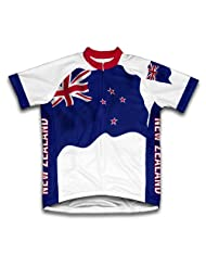 New Zealand Flag Short Sleeve Cycling Jersey for Women