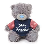 Me to You 4-inch Tatty Teddy Bear Wearing a Star Teacher T-Shirt (Grey)
