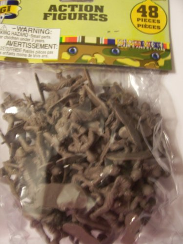 "USA GI 2"" Solider Action Figures ~ Brown (48 Pieces) - 1"