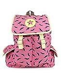 Do Bhai Zeep-Pink Fabric Smart Casual Backpack for Women