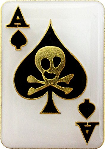 Ace of Spades with Skull Enamel Pin (Cards, Gambling, Poker) (Ace Hat compare prices)