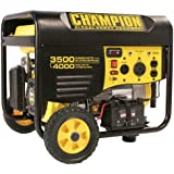 Champion Power Equipment 46539 4,000 Watt 196cc 4-Stroke Gas Powered Portable Generator with Wireless Remote Electric Start (CARB Compliant)