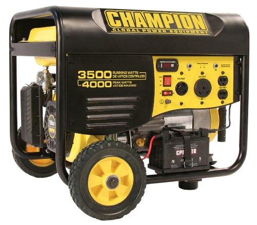516RzuDO2mL. SL500  Champion Power Equipment 46539 4,000 Watt 196cc 4 Stroke Gas Powered Portable Generator With Wireless Remote Electric Start (CARB Compliant)