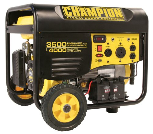 Champion Champion Power Equipment 46539 4,000 Watt 196cc 4-Stroke Gas Powered Portable Generator With Wireless Remote Electric Start (CARB Compliant)