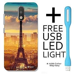 Hamee Back Cover for Moto G4 Plus , Moto G4 Plus back Cover + Free USB Light