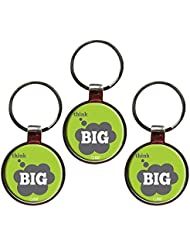 Think Big Inspiring Quote Metal Key Chain Set Of 3