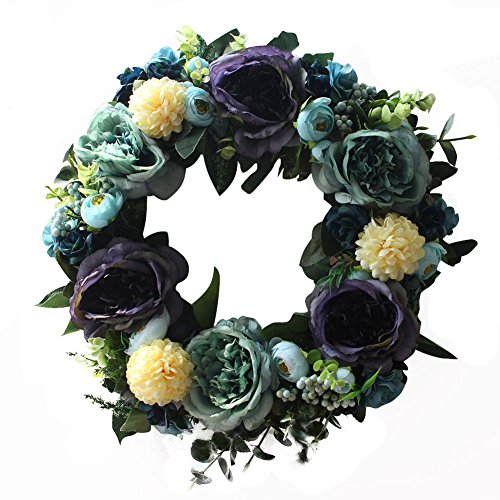 Retro wreath Handmade Home Wall Decor Vintage Style Artificial Large Blooming Flower