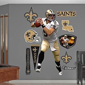 NFL New Orleans Saints Drew Brees Away Wall Graphics by Fathead