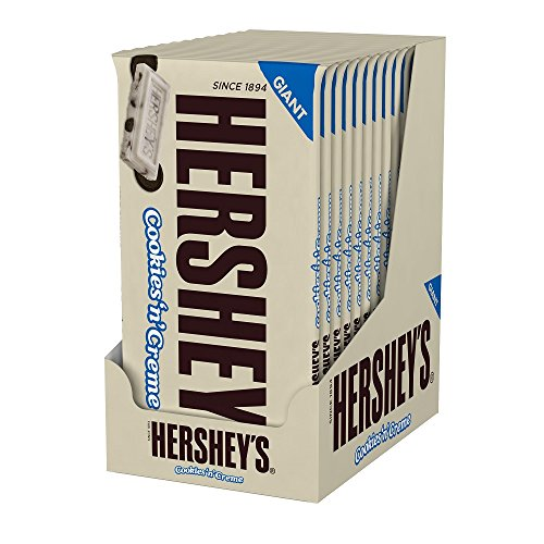 HERSHEY'S Cookies 'N' Crème Giant Bar, (6.5-Ounce Bar, Pack of 12) (Giant Hersheys Chocolate Bar compare prices)
