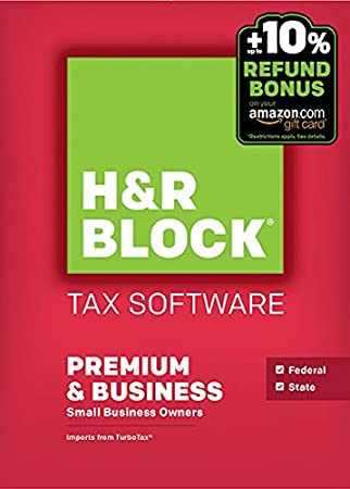 H&R Block 2015 Premium + Business Tax Software + Refund Bonus Offer - Windows Download