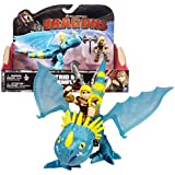 """Spin Master Year 2015 Dreamworks """"Dragons - Dragon Riders"""" Series 7 Inch Long Dragon Figure Set - STORMFLY with Tail Missile and ASTRID with Battle Axe"""
