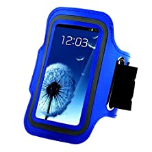 buy Touch Screen Pouch Sport Gym Running Jogging Armband Bag Shockproof Cell Phone Cases For Htc Lg Sony Screen 5-5.7 Inch (Blue(D91-3)