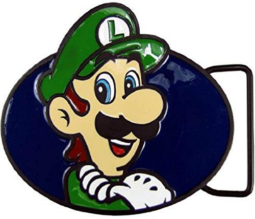 Mens Bioworld Nintendo Super Mario Luigi Belt Buckle