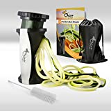 #1 Vegetable Spiral Slicer - Spiralizer Bundle With FREE Storage Bag, Cleaning Brush And Recipe E Book - IDEAL For Making HEALTHY Pasta And Noodles - PERFECT For Creating Low Carb Diet Meals - HIGH QUALITY Stainless Steel With Premium Japanese Blades - No Risk With 100% Money Back Guarantee - MUST HAVE Award Winning Kitchen Gadget Of The Year - As Seen On TV!