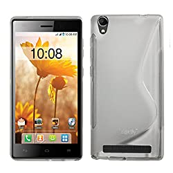 Heartly Thin Premium S-Line Soft Flexible TPU Matte Rugged Bumper Back Case Cover For Intex Aqua Power+ - Best White