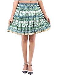 Sunshine Enterprises Women's Cotton Wrap Skirt (White) - B01HELPV5Q