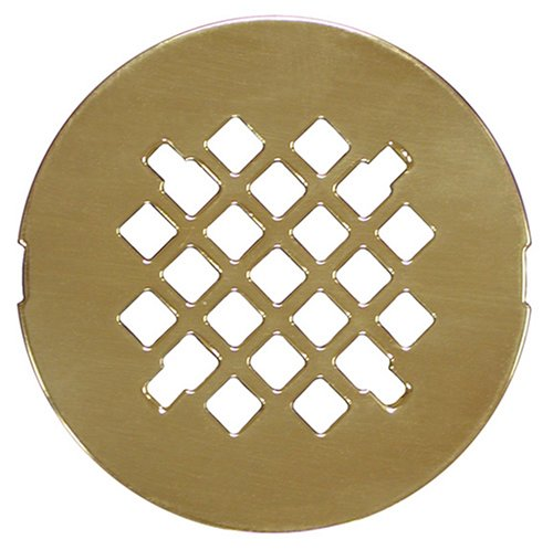 Plumbest D40-003 Decorative Shower Drain Strainer, Polished Brass