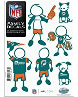 MIAMI DOLPHINS NFL FAMILY CAR DECAL SET (SMALL)