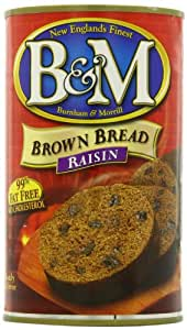 B&M Brown Bread with Raisins, 16 Ounce Cans (Pack of 12)