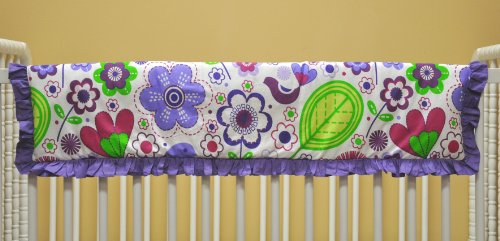 Botanical Multicolor Crib Rail Protector
